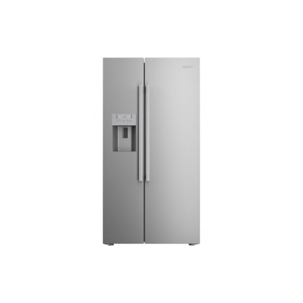 beko american fridge freezer silver pooles domestics. Black Bedroom Furniture Sets. Home Design Ideas