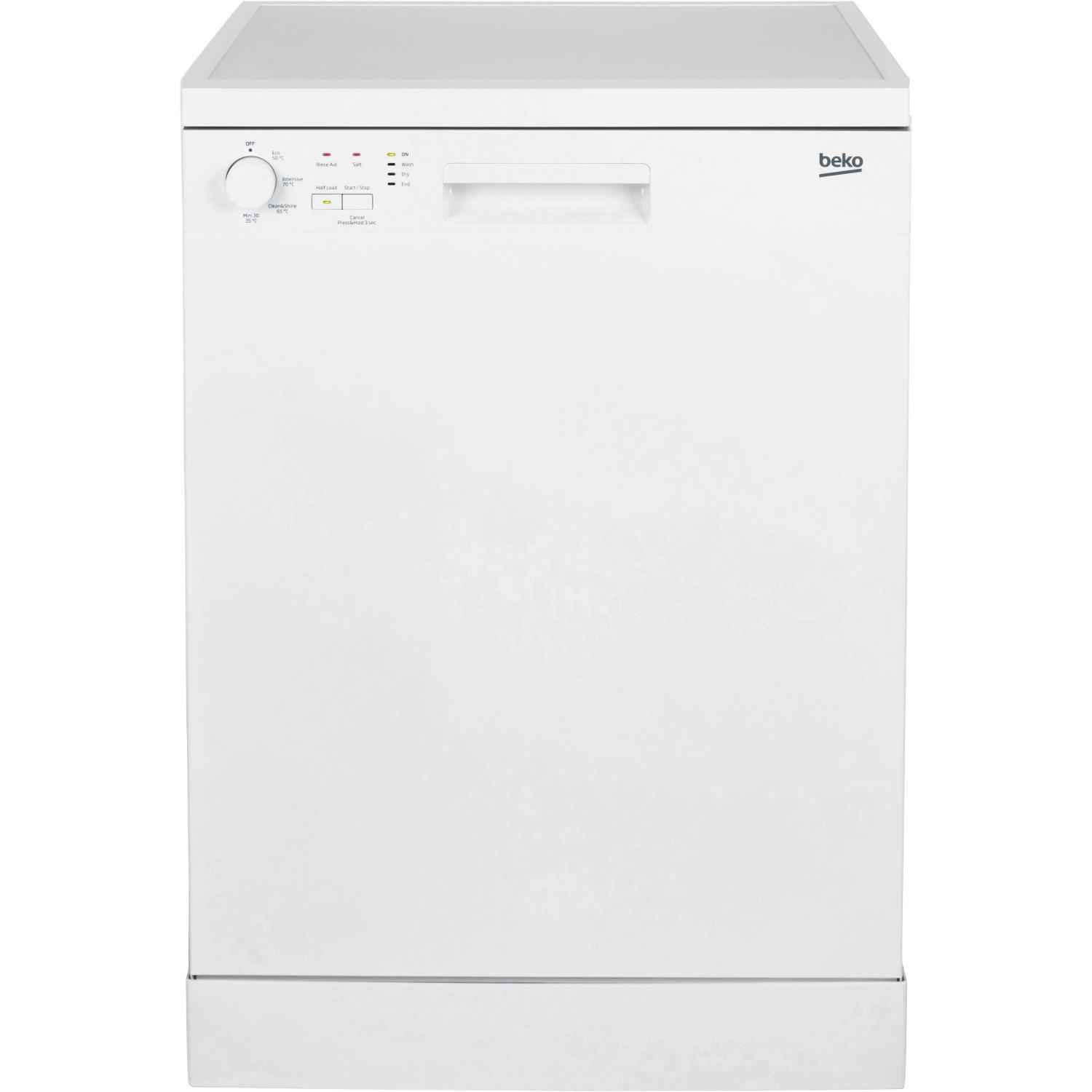 0072ae53314 Beko DFN04C11W Full Size Dishwasher – White – A+ Rated | Pooles ...