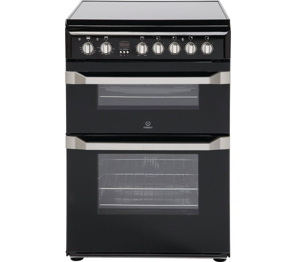 indesit 60cm ceramic cooker graded pooles domestics. Black Bedroom Furniture Sets. Home Design Ideas